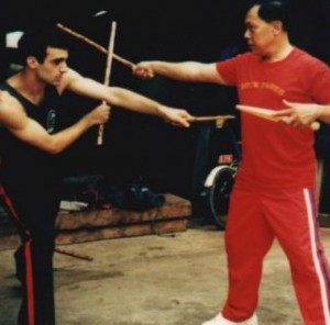 Robert Halaijian with Doce Pares Grandmaster Diony Canete