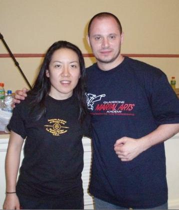 Kacey Chong with Richard Dimitri