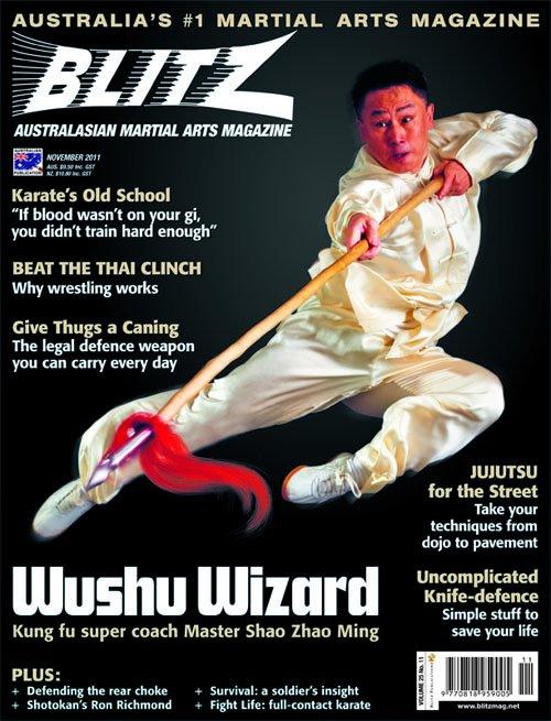 Blitz Martial Arts Magazine Cover - November 2011