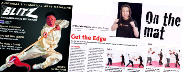 Blitz Martial Arts Magazine - Drill of the Month - AIM Academy - Kacey Chong