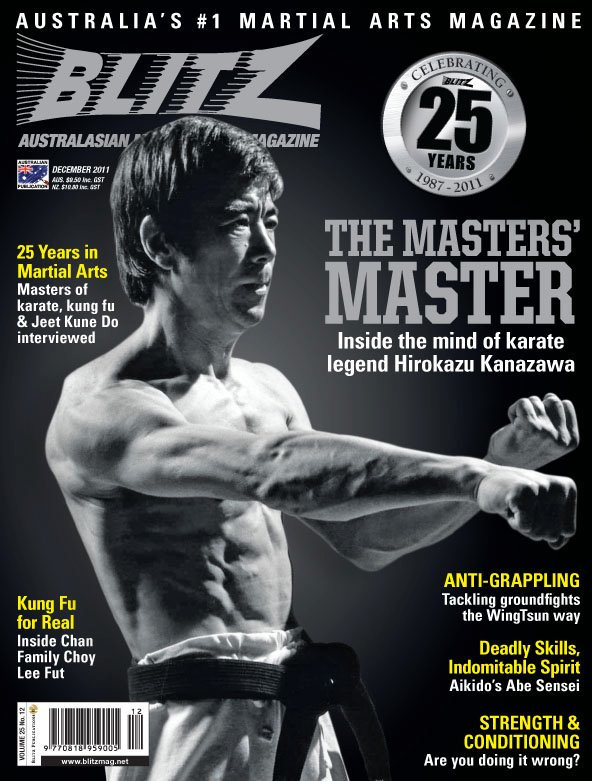 Blitz Martial Arts Magazine Cover - Dec 2011