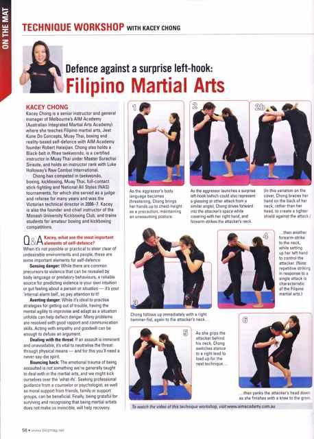 A.I.M. Academy - Kacey Chong - Technique Workshop - Blitz Martial Arts Magazine