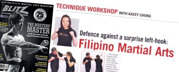 A.I.M. Academy - Kacey Chong - Blitz Martial Arts Magazine - Technique Workshop - Dec 2011