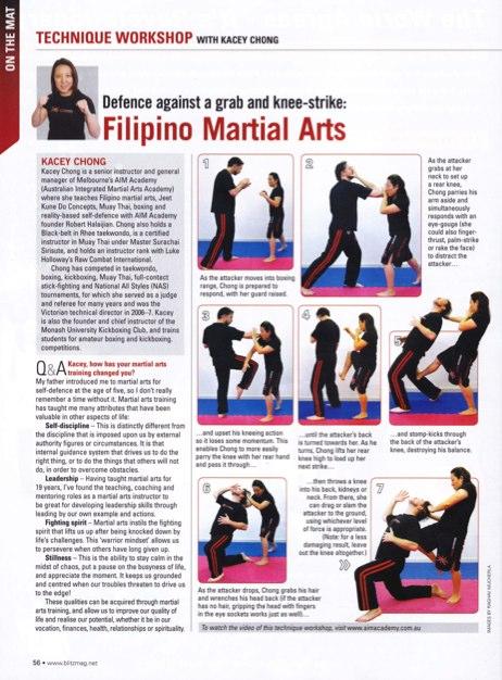 Blitz Martial Arts Magazine - Technique Workshop - Kacey Chong