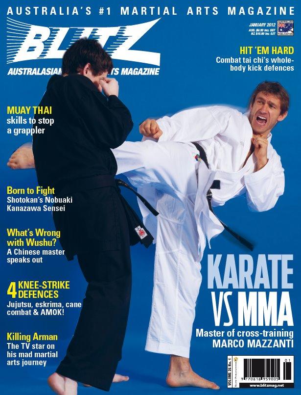 Blitz Martial Arts Magazine Cover - Jan 2012