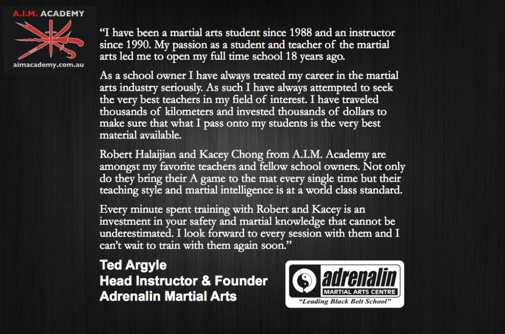 A.I.M. Academy Review | Ted Argyle | Adrenalin Martial Arts