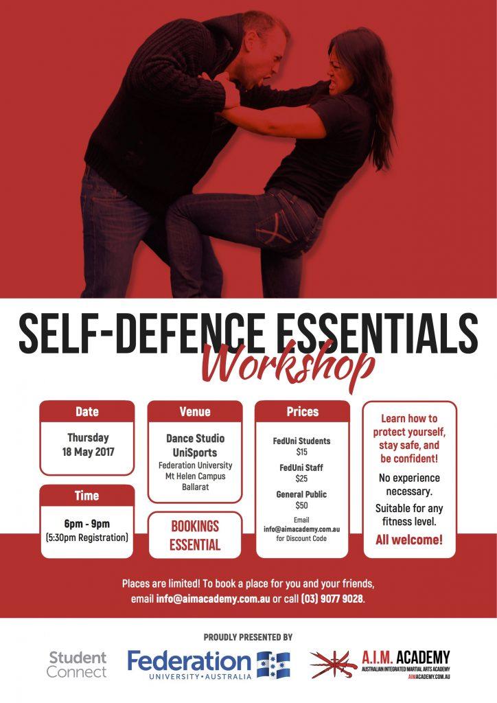 Self-Defence Workshop | Federation University | Ballarat | Poster