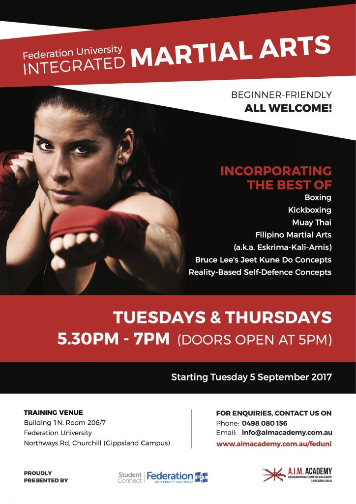 Martial Arts and Self-Defence   Federation University   Churchill   Gippsland