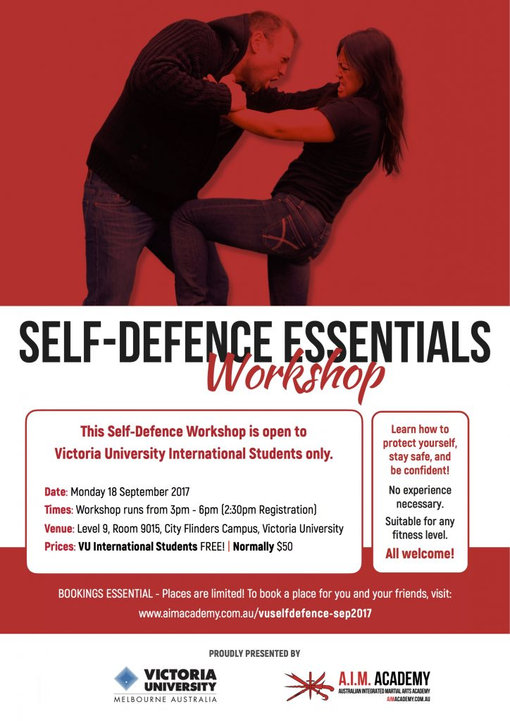 Self-Defence Workshops | Victoria University | Melbourne | A.I.M. Academy