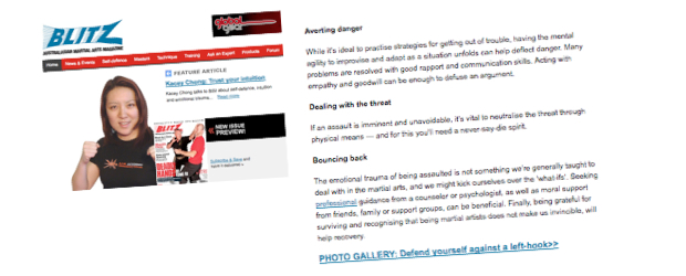 Self-Defence Article - Kacey Chong - Blitz Magazine